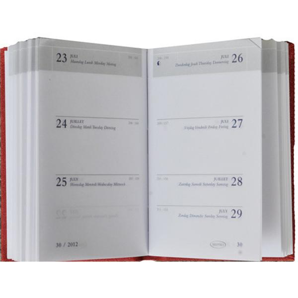 Picture of agenda Brepols 2021 Armada     71x102mm 7/2 Seta - blauw - rood - zwart