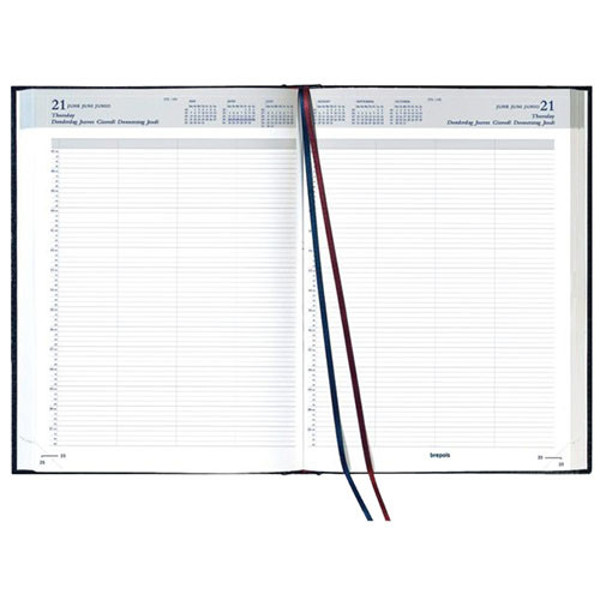 Picture of agenda Brepols 2020 Bremax 2  210x297mm 1/2 Santex 7 kolommen - zwart