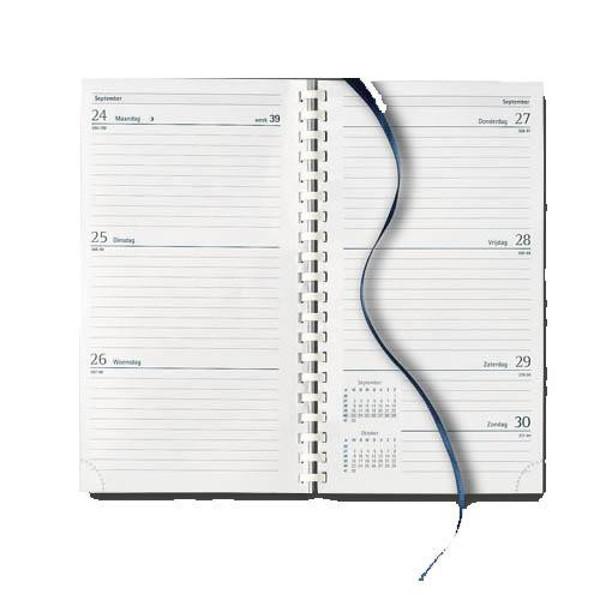 Picture of agenda Castelli 2020 H37 Milano   89x153mm 7/2 spiraal Top - blauw / zwart