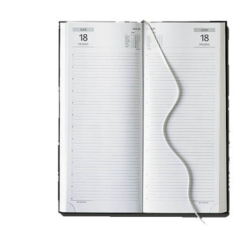 Afbeeldingen van agenda Castelli 2020 H73 Praktijk 140x330mm 1/2 Balacron - zwart