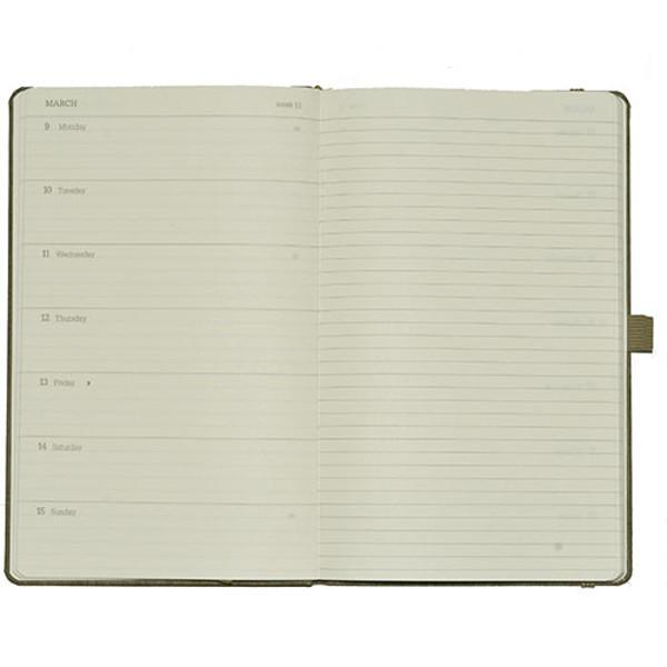 Picture of agenda Castelli 2020 Q61 Ivory Medium 130x210mm 7/1 + notitieblad - Matra - blauw / groen