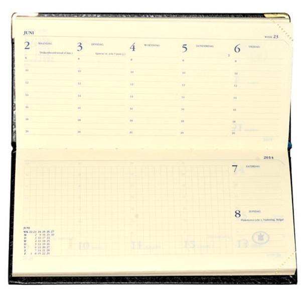 Picture of agenda Ryam 2020 Notations mundior  169x 81mm 7/2 liggend - zwart