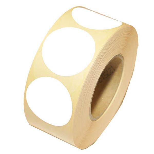 Picture of etiket op rol 25mm rond wit 1000stuks