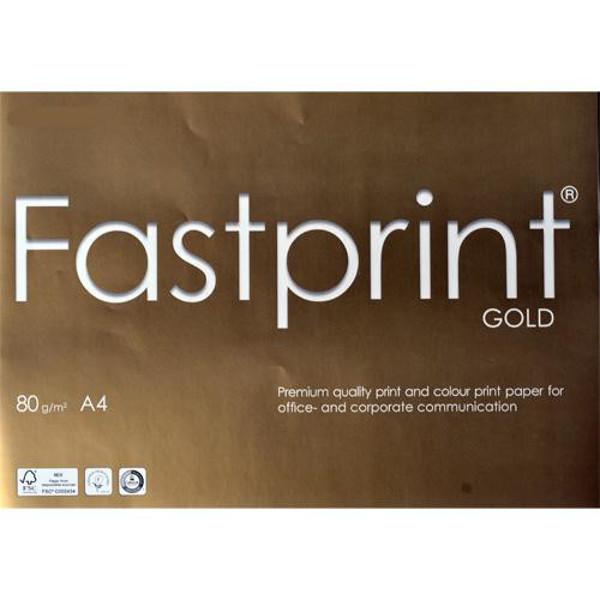 Bild von kopieerpapier Fastprint A4  80gr 500vel wit Gold Colorlok