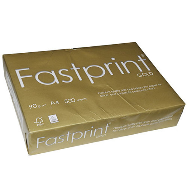 Picture of kopieerpapier Fastprint A4  90gr 500vel wit Gold Colorlok