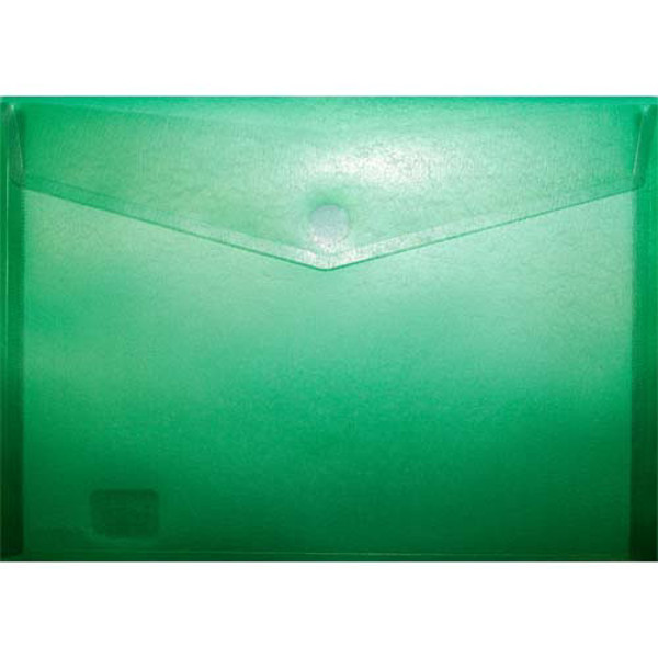 Picture of enveloptas HF2 liggend 240x330mm A4 transparant groen