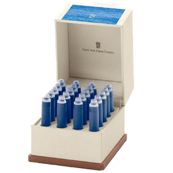 Picture of inktpatroon Graf von Faber Castell Gulf Blue      - 20stuks