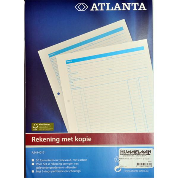 Picture of rekeningblok Atlanta A4 2-voud
