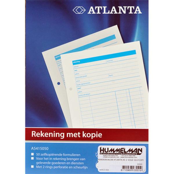 Picture of rekeningblok Atlanta A5 2-voud selfcopy