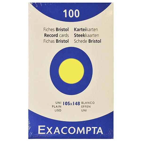 Bild von correspondentiekaart Exacompta 105x150mm geel   blanco (A6) 205gr