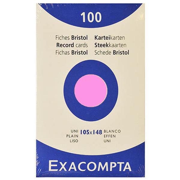 Picture of correspondentiekaart Exacompta 105x150mm roze   blanco (A6) 205gr