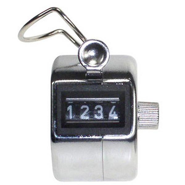 Picture of handteller HF2 - 4-cijferig - chrome kleurig
