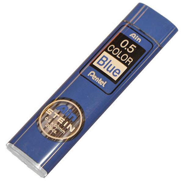 Afbeelding van potloodstift Pentel Ain Stein 0.5mm  blauw    20stuks
