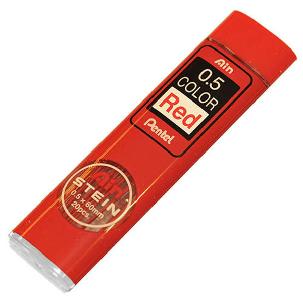 Picture of potloodstift Pentel Ain Stein 0.5mm  rood     20stuks