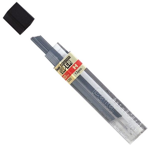 Afbeelding van potloodstift Pentel Super Hi-Polymer 0.5mm  H 12stuks