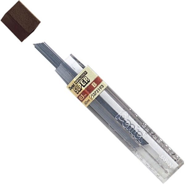 Afbeelding van potloodstift Pentel Super Hi-Polymer 0.3mm  B 12stuks