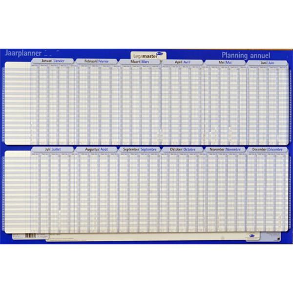 Picture of jaarplanner Legamaster 2020 - projectplanner  - horizontaal - plastic - jan / juni - juli / dec