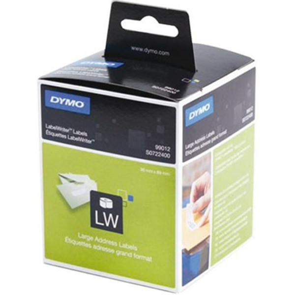 Picture of labeletiket Dymo 99012 labelwriter 36x89mm 2x260stuks permanent wit