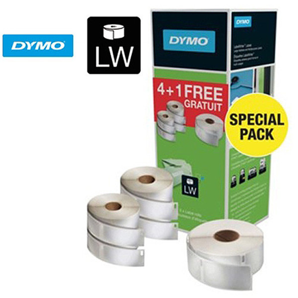 Picture of labeletiket Dymo 99012 labelwriter 4x 36x89mm + 1x 19x51mm bundelpack