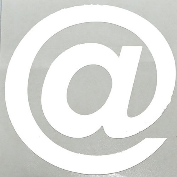 Afbeelding van plakletter Pickup Helvetica 80mm wit - @ -