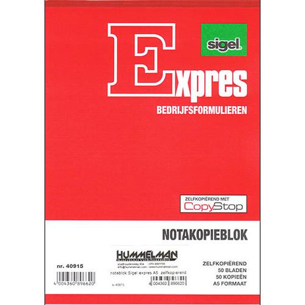 Picture of notakopieblok Sigel expres A5  zelfkopierend