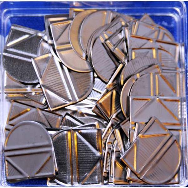 Bild von hoekclips (bendover) Alco 100stuks zilverkleurig