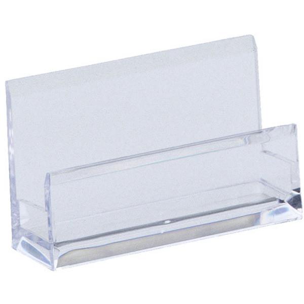 Picture of visitekaartstandaard Alco  plastic 1vak transparant