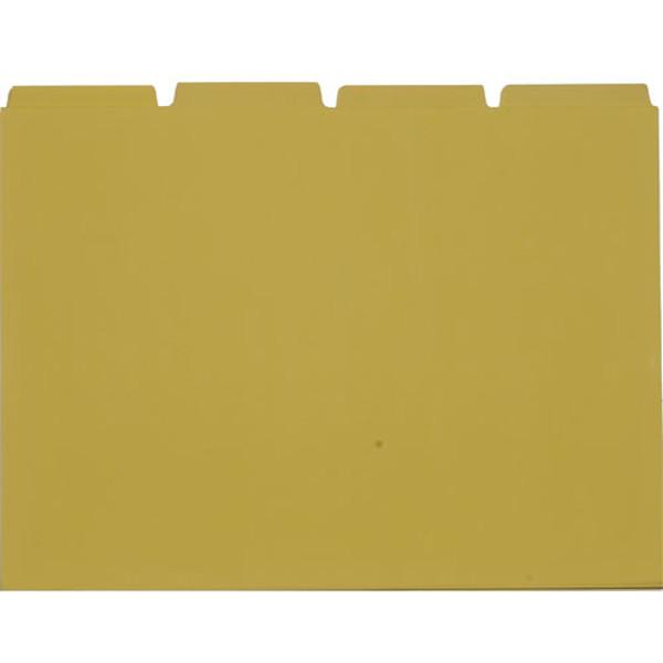 Afbeelding van systeemkaart tabkaart 170x230mm plastic geel