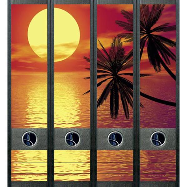 Afbeelding van ordnerrug File Art zelfklevend 4 stuks 60 x 210 mm tropical sunset
