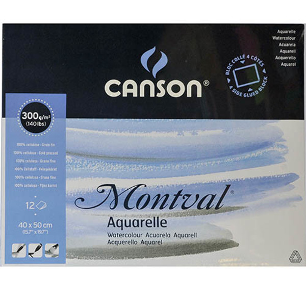Picture of aquarelblok Canson Montval 400x500mm 12blad - 300gr