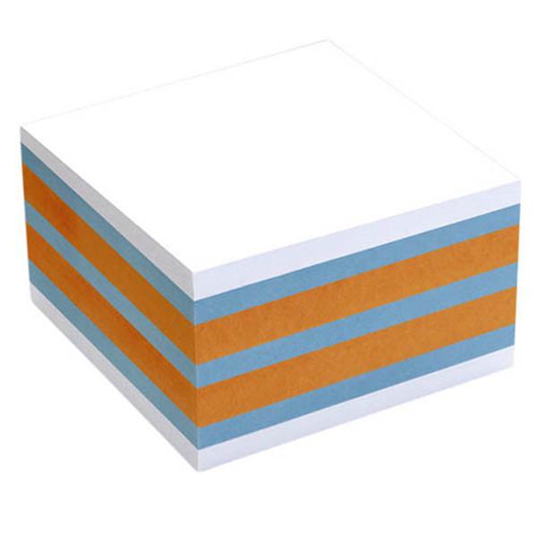 Bild von memoblok Info Notes 75x75mm 450vel blauw/ oranje/ wit