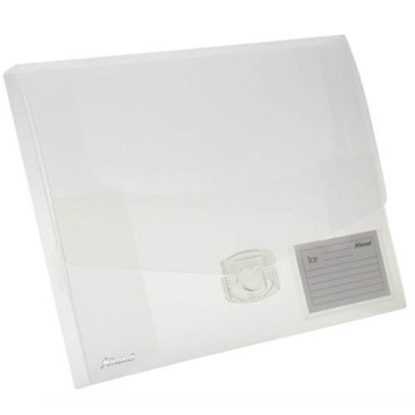 Afbeelding van documentenbox Rexel ice A4 cap.25mm  transparant sluitclip