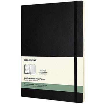 Afbeeldingen van agenda Moleskine 2020 12M Weekly Notebook XL    190x250mm 7/1 + notitieblad zwart - soft