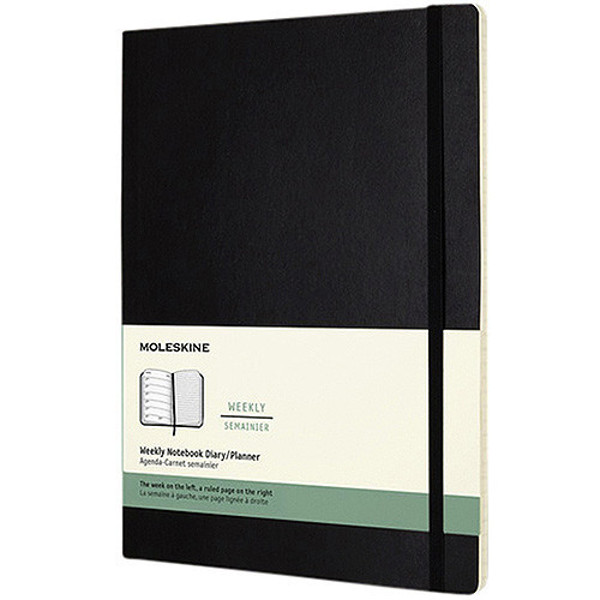 Picture of agenda Moleskine 2020 12M Weekly Notebook XL    190x250mm 7/1 + notitieblad zwart - soft