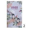 Picture of agenda Brepols 2020 Interplan  89x160mm 7/2 Blossom - roze - grijs