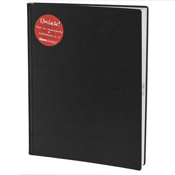 Picture of agenda OpenDesign 2020 Twin Timer Large  215x275mm 1/1+7/2 - Avenue - zwart