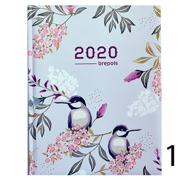 Bild von agenda Brepols 2020 Timing 171x220mm 7/2 Blossom - roze / grijs