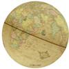 Afbeelding van globe Columbus Renaissance 30cm verlichting donkere houten voet