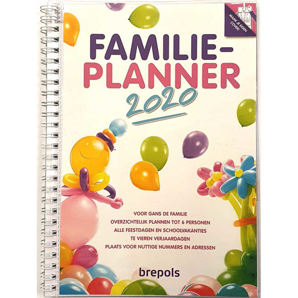 Picture of agenda Brepols 2020 familieplanner 165x215mm 7/2