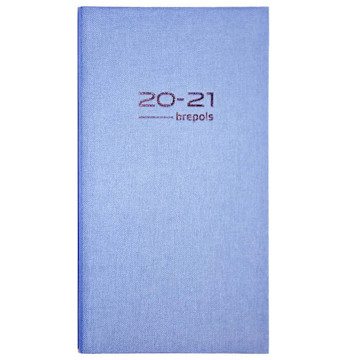 Picture of agenda Brepols 2020-2021 Interplan 16mnd 89x160mm 7/2 Nature roze - blauw - groen