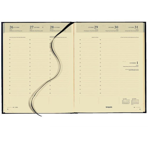 Bild von agenda Brepols 2021 Timing 171x220mm 7/2 Lima creme papier - zwart