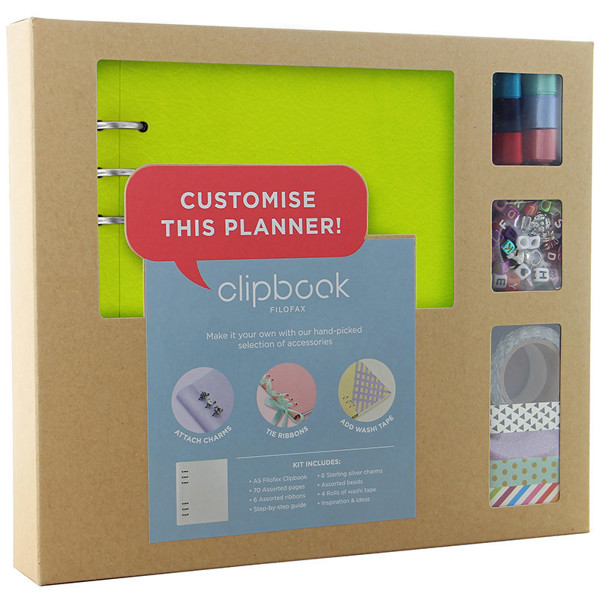 Filofax Clipbook A5 Classic Brights Customise Creative Kit