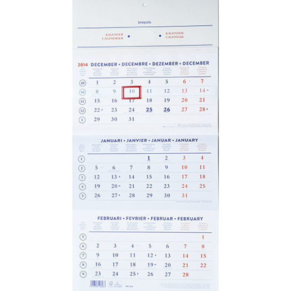 Bild von kalender Brepols 2021 - 3 maandskalender