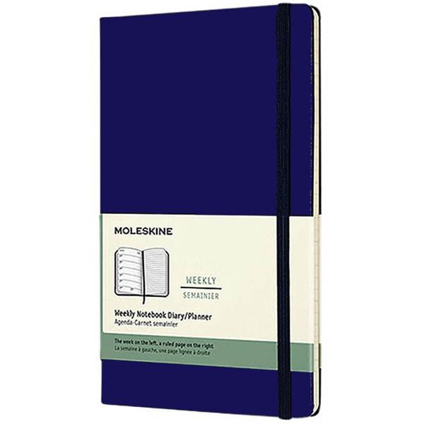 Bild von agenda Moleskine 2021 12M Weekly Notebook Large 130x210mm 7/1 + notitieblad blauw - hard