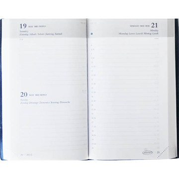 Picture of agenda Brepols 2021 Breform   100x165mm 1/1 Seta - zwart