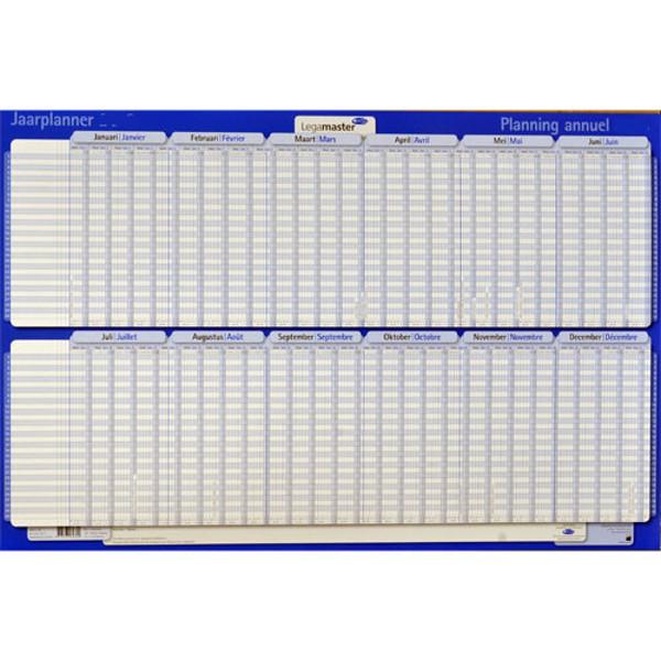 Afbeelding van jaarplanner Legamaster 2021 - projectplanner  - horizontaal - plastic - jan / juni - juli / dec