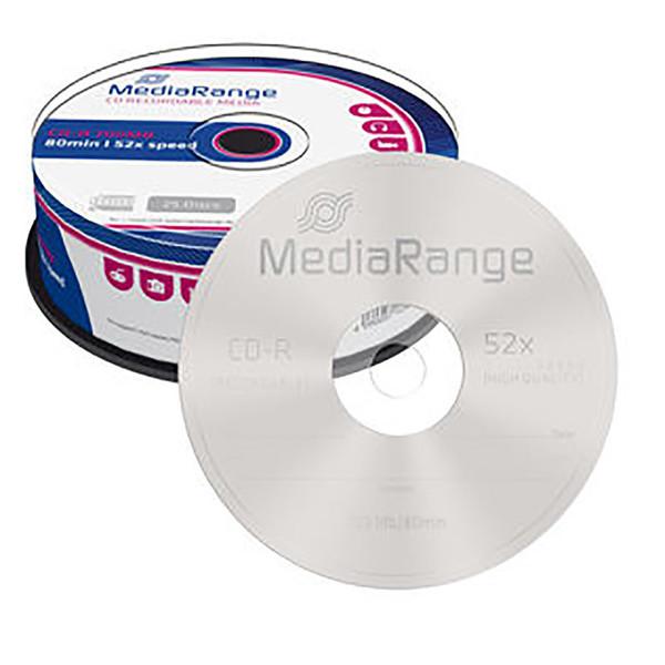 cd-R MediaRange 700MB|80min 52x speed - 25 stuks