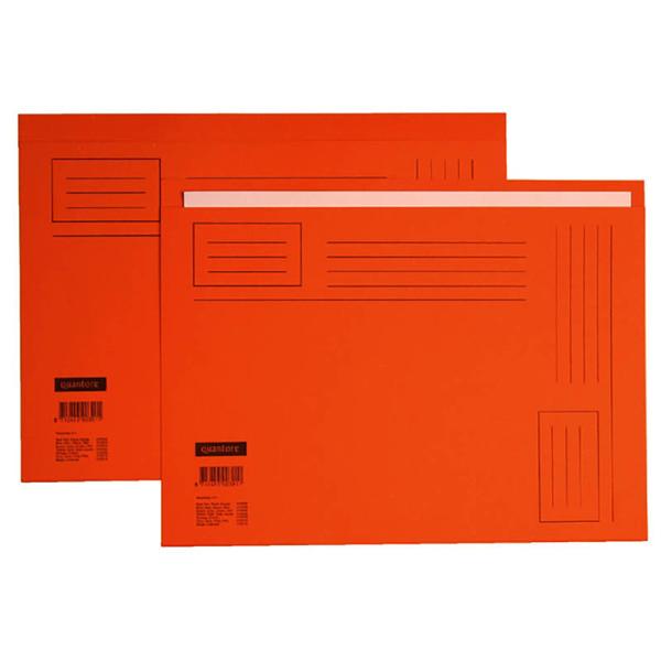 Bild von vouwmap Quantore A4 ongelijke zijde 230gr 10stuks oranje