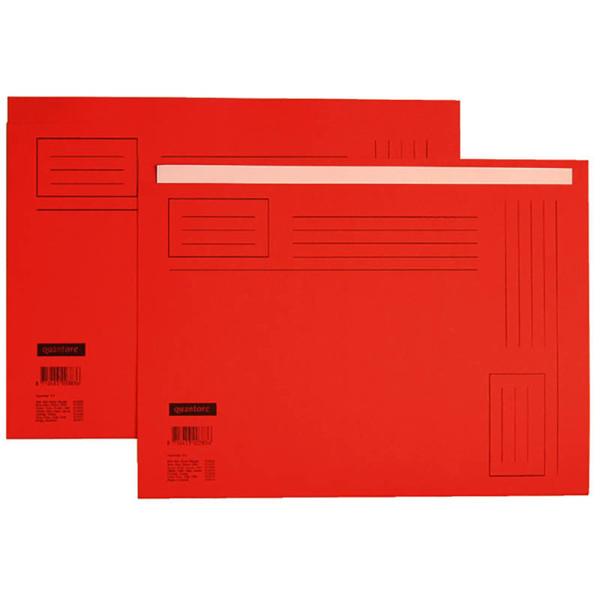 Bild von vouwmap Quantore A4 ongelijke zijde 230gr 10stuks rood