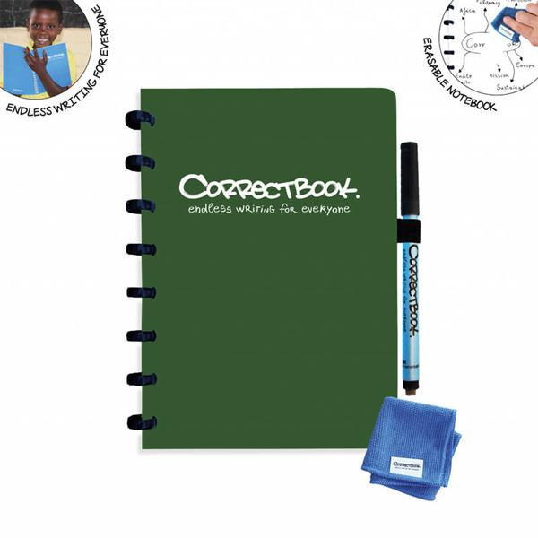 notitieboek Correctbook uitwisbaar en herbruikbaar A5 gelijnd 40blz Forest Green